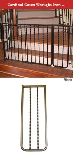 Cardinal Gates Wrought Iron Decor Gate Width Extension. Add 10.5 inches of width to your Cardinal Gates Wrought Iron Decor Gate (Model WI-30) with this attractive extension, Model WIX. Available in black, the WIX features durable construction and a powder-coated finish. Wood clamps are not included Color: Black. Suggested age/weight limit: For children ages 6 months to 24 months Safety: All gates are JPMA certified and adhere to guidelines as set forth by the JPMA & the Consumer Products...