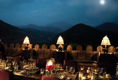 Kasbah Tamadot hotel in the Atlas Mountains of Morocco