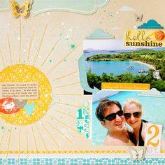 """Hello Sunshine"" by Susan Weinroth @ Studio Calico ... ♥ the Stitched Sunshine!!!"