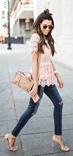 Lace top.