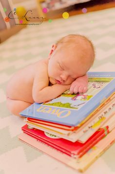 Book-worm Newborn by C. Linz Photography