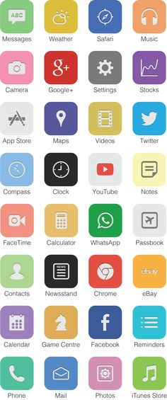 iOS7 Icon Redesign by Ben Wood, via Behance