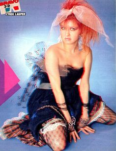 Cyndi Lauper..someone who did not grow on me right away,but I always thought her music was cutting edge,and very cheerful for the 80s..we need more like her today