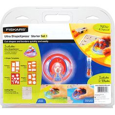 Fiskars Ultra ShapeXpress Starter Set #1: Crafts : Walmart.com what kind of templets are available?