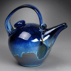 Blue Teapot by Yael Shomroni Pottery