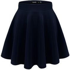 Thanth Womens Versatile Stretchy Pleated Flare Short Skater Skirt ($12) ❤ liked on Polyvore featuring skirts and mini skirts