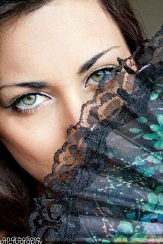 Hidden eyes by andrea. Sweetest Day, Dreadlocks, Feminine, Eyes, My Style, Hair Styles, Lace, Sexy, Beauty