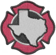 Machine Embroidery Designs Embroidery Design: Texas Firefighters 2.56 inches H x 2.58 inches W