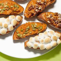 Twice Baked Sweet Potatoes, 3 Ways
