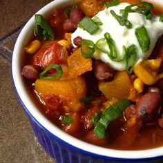 A hearty and satisfying vegetarian chili full of smoky flavors and sweet butternut squash - perfect for vegetarians and meat eaters alike.