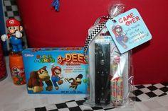 Favors at a Super Mario Bros. Party #supermario #partyfavors