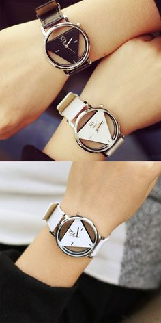 Fashion Simple Triangle Hollow Couple Transparent Students Watch for big sale ! #wtch #hollow #simple #triangle #fashion