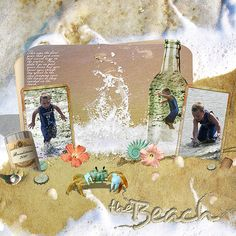 beach scrapbooking, layout
