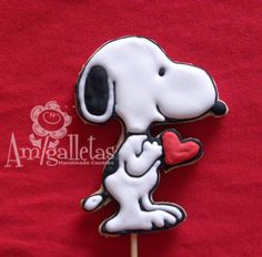 Snoopy Valentine's cookies by Amigalletas on Etsy, $35.99 - who wouldn't love to get some of these adorable cookies! I might have to order some for somebody special.