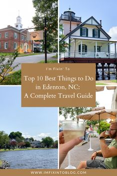NC Blogger I'm FIxin' To shares a complete travel guide of what to do, where to eat, and where to stay in Edenton, NC.
