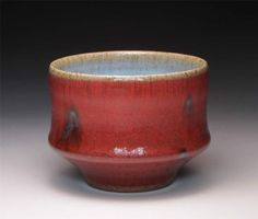 copper red glazes | Studio pottery stoneware yunomi chun and copper red glaze by peter sp ...