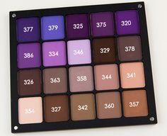 Inglot Matte Eyeshadows in #329, 378, 326, 363, 358, 344 (Browns & Neutrals)