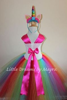 Rainbow unicorn tutu dress, Unicorn birthday party outfit, Rainbow unicorn birthday party costume size nb to Birthday Party Outfits, Unicorn Birthday Parties, Unicorn Party, Girl Birthday, Birthday Tutu, Unicorn Dress, Unicorn Headband, Rainbow Tutu, Rainbow Unicorn