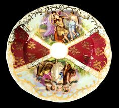 Antique Rare Coburg Dresden China Porcelain Plate cca 1865-1911. On isradeal.com the shipping is always ZERO.