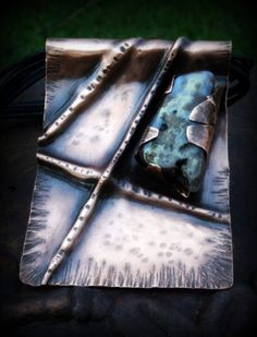 Fold Formed Large Copper & Stone Pendant - Try Handmade Gallery - Free Handmade Advertising