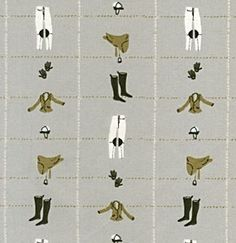 Equestrian Icons. Fabric by Heather Ross.