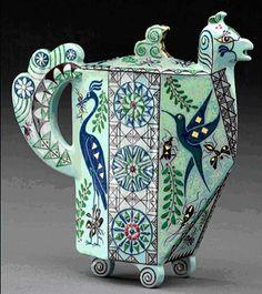 Mariko Swisher, Birds and Bees Teapot, Isadore Gallery*