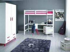 PAPALLONA->Κρεβάτια papallona->ΚΡΕΒΑΤΙ ΜΕ ΓΡΑΦΕΙΟ P4 - www.maisonplus.gr