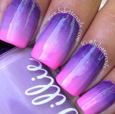 Nails so cute....could do pink with navy blue for my brothers wedding