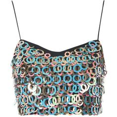 Large Sequin Strappy Bralet by Glamorous (400 ARS) ❤ liked on Polyvore featuring tops, bralet, crop top, up, multi, zip crop top, white top, bralet tops, strappy bralette top and sequined top