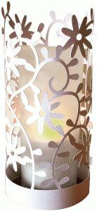 Silhouette Design Store - View Design #79351: daisies papercut lantern