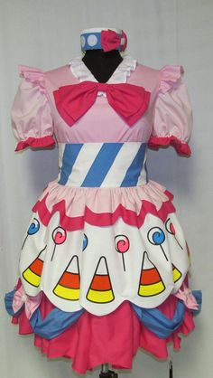 My Little Pony Pinkie Pie Cosplay Costume Size 4 6 8 10 12 14. $340.00, via Etsy.