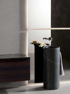 Giro Marble Freestanding Washbasinin by Inbani Small Bathroom, Master Bathroom, Washroom, Bathroom Ideas, Carrara, Square Sink, Basin Design, Marble Wall, Modern Bathrooms