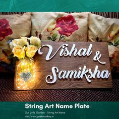 Send gifts online from Geekmonkey, shop for unique gifts in India. Buy customized gifts, gifts for girls, gifts for men and gifts for dad. Wooden Name Plates, Personalized Name Plates, Unique Gifts For Girls, Quirky Gifts, String Art Names, Name Plate Design, Name Plates For Home, Wooden Art, Home Decor Furniture