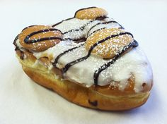 It's Donilla - an old-timer in Psycho Donut land!  Vanilla icing, nilla wafers, and dark chocolate drizzle!  Copyright Psycho Donuts, All Rights Reserved.