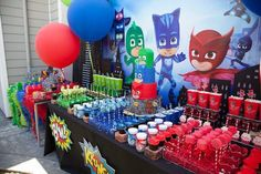 Got a PJ Masks lover out there? Kara's Party Ideas presents a PJ Masks Superhero Birthday Party filled with tons of inspiration! Fourth Birthday, Superhero Birthday Party, 4th Birthday Parties, Boy Birthday, Birthday Ideas, Pjmask Party, Party Ideas, Ideas Decoración, Festa Pj Masks