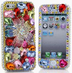 Crystal Flower Luxury Bling iphone 5 Case
