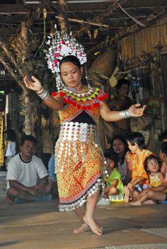 Dancing in Malaysia - Borneo
