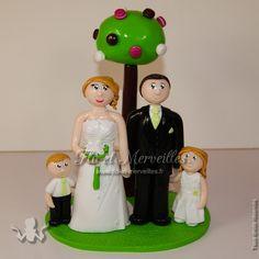 Wedding cake topper / figurines mariage personnalisées - thème gourmandise