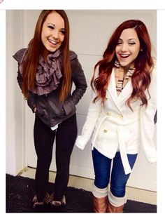 Love these outfits for winter and fall! Gabi Demartino love her