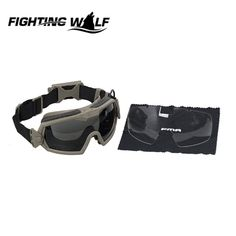 FMA Tactical Military Airsoft Paintball Combat LPG01BK12-2R Regulator Updated Version Goggle with Fan Keep Eyes Safe
