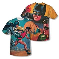 Batman Classic TV Series Let's Go All Over Print Front and Back T-Shirt