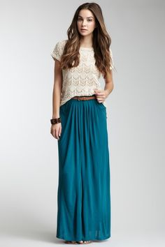 Olive & Oak Belted Maxi Skirt by Memorial Day Maxis on @HauteLook