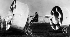 This strange French contraption with drum-like wings was inventive, but produced little in the way of lift and never made it off the ground.
