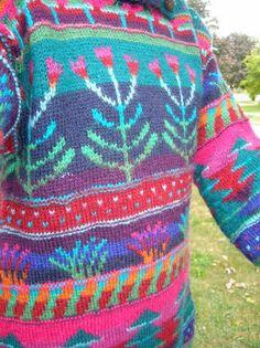 Zen Yarn - My Tangled Purls: Dark Forest Blooming - Design Sirkka Könönen Knitting Blogs, Knitting Designs, Hand Knitting, Knitting Patterns, Hand Knitted Sweaters, Knit Mittens, Handgestrickte Pullover, Knit Art, Knit Stockings
