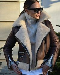 Looks com jaqueta Shearling - Glanz Winter Fashion Outfits, Fall Winter Outfits, Winter Wear, Look Fashion, Autumn Winter Fashion, Womens Fashion, Fashion Trends, Lolita Fashion, Fashion Styles