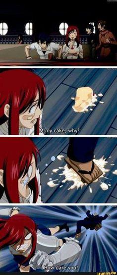 fairytail, erza, erzascarlet, cake