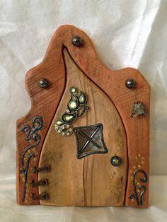 Doors patterns and fairy doors on pinterest for Fairy door pattern