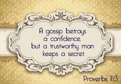Proverbs 11:13