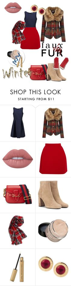 """Chic Winter ❄️"" by klm62 on Polyvore featuring Anna Field, Joe Browns, Lime Crime, Delpozo, Gucci, Yves Saint Laurent and Michael Kors"