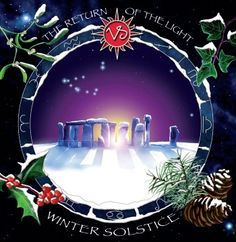 Winter Solstice and Yule Holiday Greetings Cards from the megalithic.co.uk shop - Stonehenge in snow